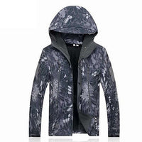 Military Style Waterproof Camo Windbreaker