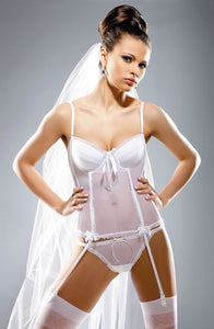 Gracya Butterfly Corset White (Swarovski Crystals)  - So Luxe