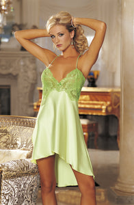 Shirley of Hollywood SOH 20365  Spring Green  Big Book Collection, Chemises, NEWLY-IMPORTED, Nightdresses, Nightwear, Shirley of Hollywood - So Luxe Lingerie