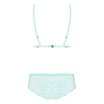 Load image into Gallery viewer, Delicanta Set Mint Bra And Panties > Clothes > Bra Sets Bra Sets, Female, NEWLY-IMPORTED, Polyamide - So Luxe Lingerie