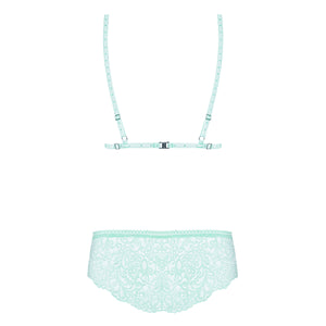 Delicanta Set Mint Bra And Panties > Clothes > Bra Sets Bra Sets, Female, NEWLY-IMPORTED, Polyamide - So Luxe Lingerie