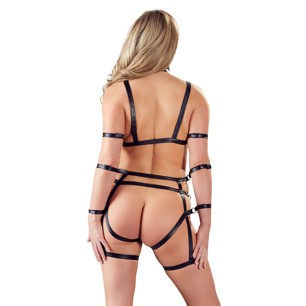 2 Piece Matt Look Bondage Set > Clothes > Bodies and Playsuits Bodies and Playsuits, Female, NEWLY-IMPORTED, Polyester - So Luxe Lingerie