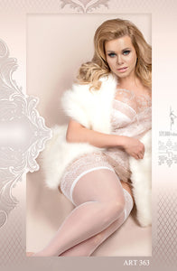 BALLERINA 363 Hold Ups Bianco ()  - So Luxe