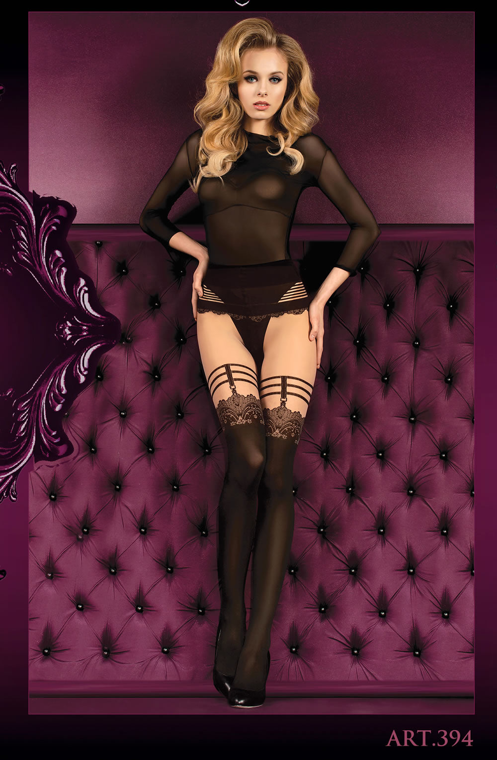 BALLERINA 394 Skin/Nero (Black)  - So Luxe