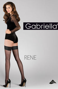 Gabriella Calze Rene 430 Nero  Brands, Everyday, Gabriella, Hold Ups, Hosiery, NEWLY-IMPORTED - So Luxe Lingerie