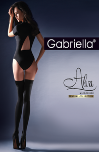 Gabriella Calze Alva 632 Nero  ()  Brands, Clubwear, Everyday, Gabriella, Hold Ups, Hosiery, NEWLY-IMPORTED - So Luxe Lingerie