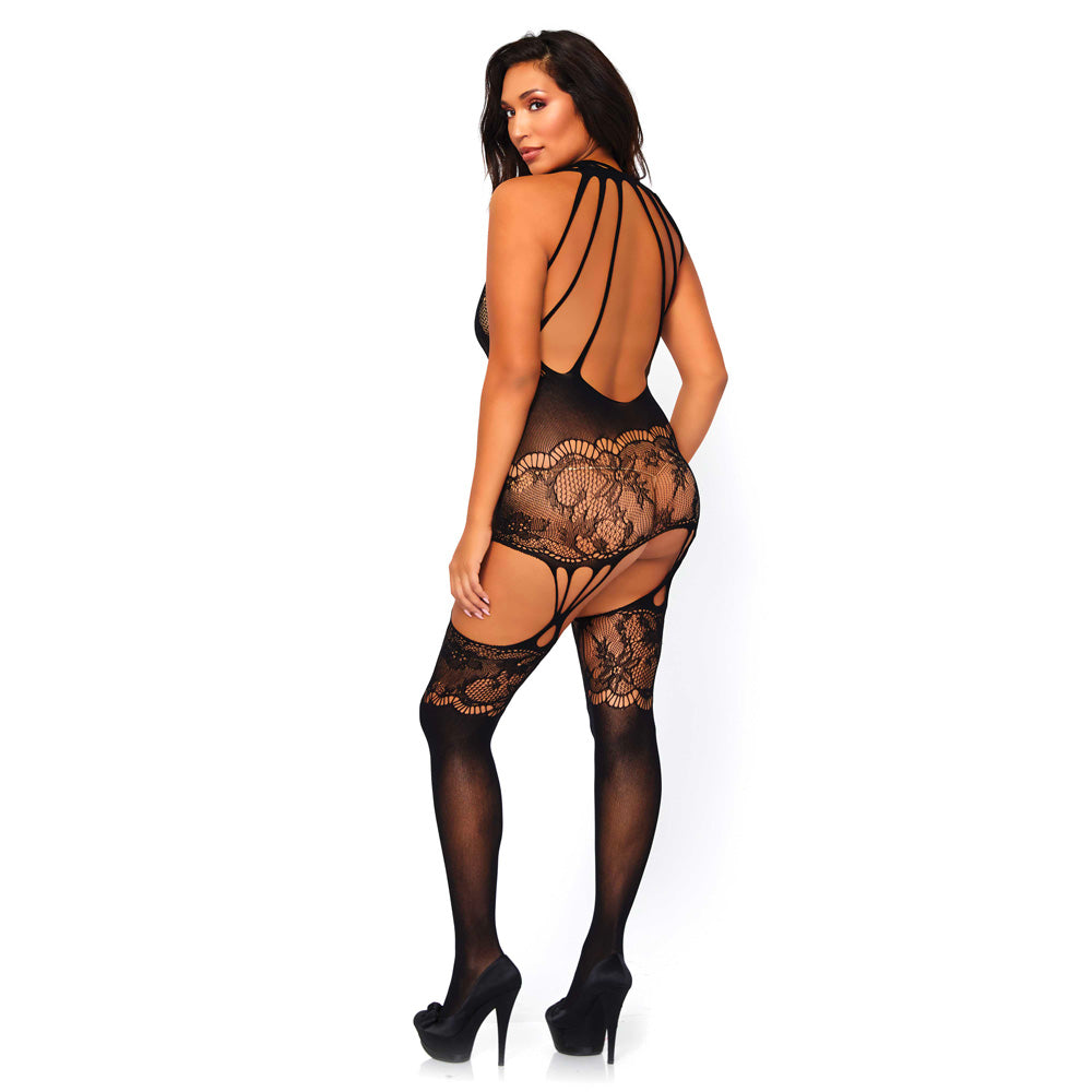 Leg Avenue Seamless Opaque Bodystocking UK 18 to 22 Clothes > Plus Size Lingerie - So Luxe