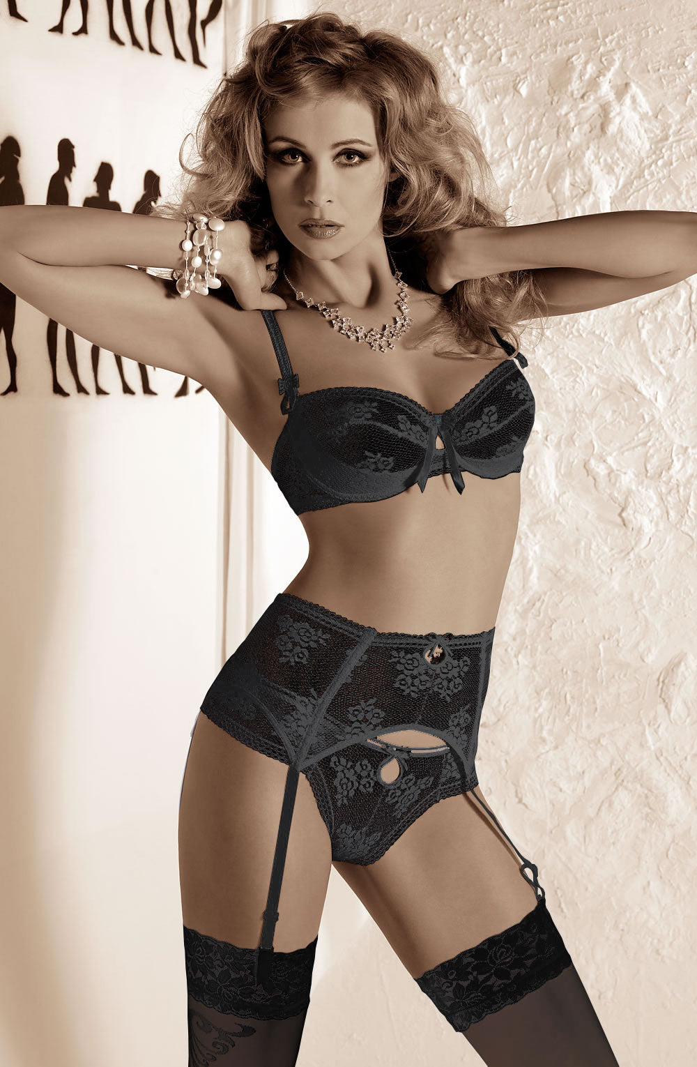 Roza Euterpe  Susp Belt  NEWLY-IMPORTED - So Luxe Lingerie