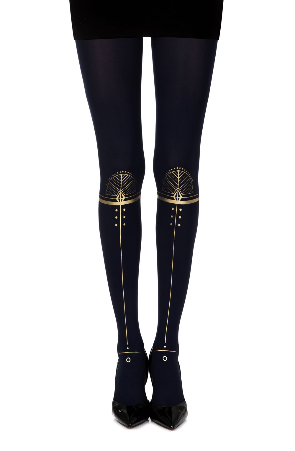 "Zohara ""Hypnotic"" Blue Print Tights  - So Luxe"