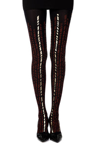 "Zohara ""Cross It""  Print Tights  - So Luxe"