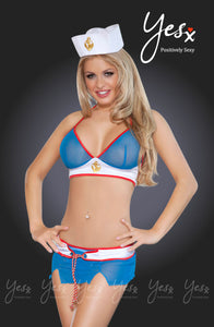 YesX Yesx YX121 Navy Girl Blue/Red