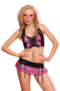 YesX Yesx YX145 Naughty School Girl Rose/Black  All Offers, Costumes, NEWLY-IMPORTED, SALE, Yesx, £12.99 DEALS - So Luxe Lingerie