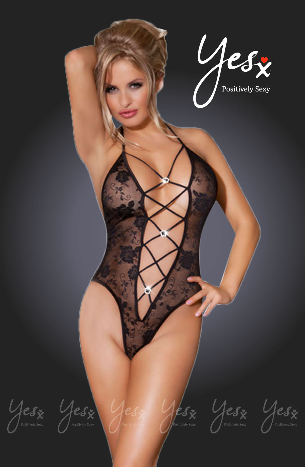 YesX Yesx YX211 Teddy  Black  Lingerie Sets, NEWLY-IMPORTED, Teddies, Yesx - So Luxe Lingerie