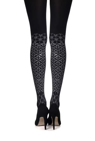 "Zohara ""Frozen Shapes"" Print Tights  - So Luxe"