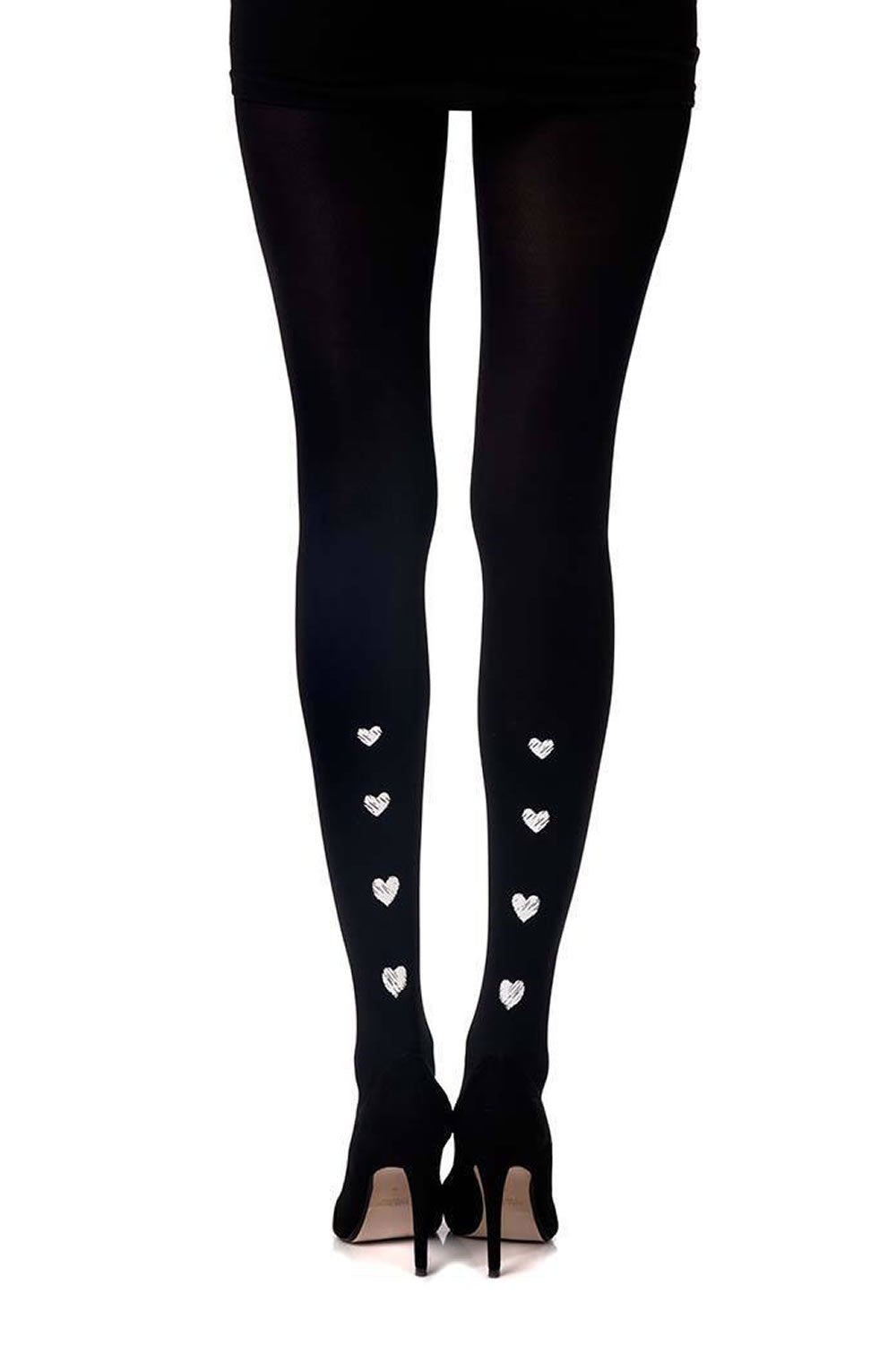 "Zohara ""Love e Tender"" Black Print Tights  All Offers, Hosiery, NEWLY-IMPORTED, Tights, Zohara - So Luxe Lingerie"