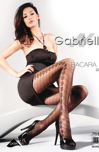 Gabriella Fantasia Bacara 05-479 Nero Size 2-Sall  (D)  0.99p  DEALS, All Offers, Gabriella, Hosiery, NEWLY-IMPORTED, Tights - So Luxe Lingerie