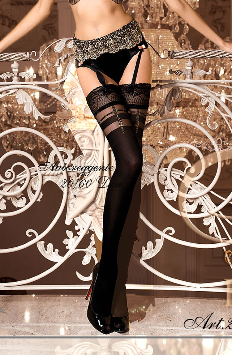 BALLERINA 263 Hold Up Nero ()  Ballerina, Hold Ups, Hosiery, NEWLY-IMPORTED - So Luxe Lingerie