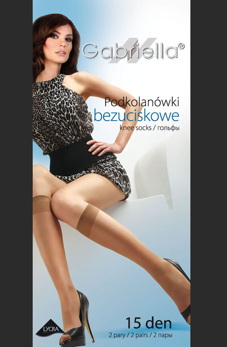 Gabriella Bezuciskowe 500   (2 Pair Pack)  Gabriella, Hosiery, Knee Highs, NEWLY-IMPORTED - So Luxe Lingerie
