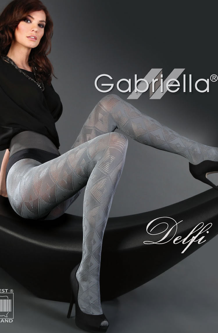 Gabriella Fantasia Delfi Tights Grey2 (S)