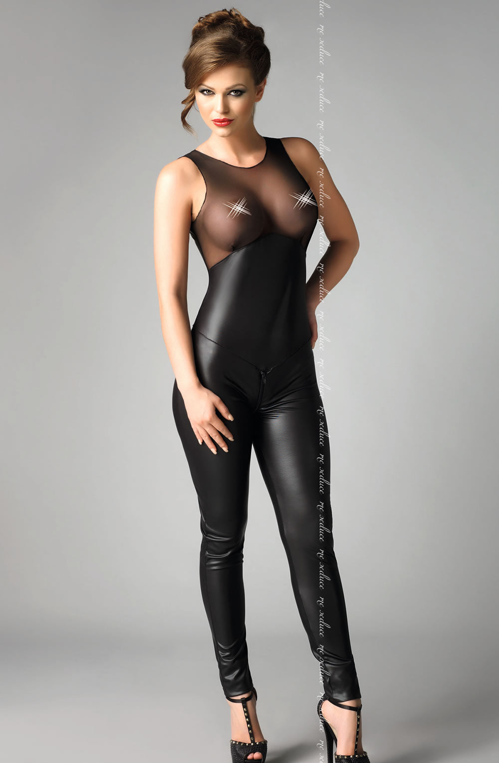 e Seduce e Seduce Dei Black3  Catsuits, Me Seduce, NEWLY-IMPORTED, Wet Look - So Luxe Lingerie