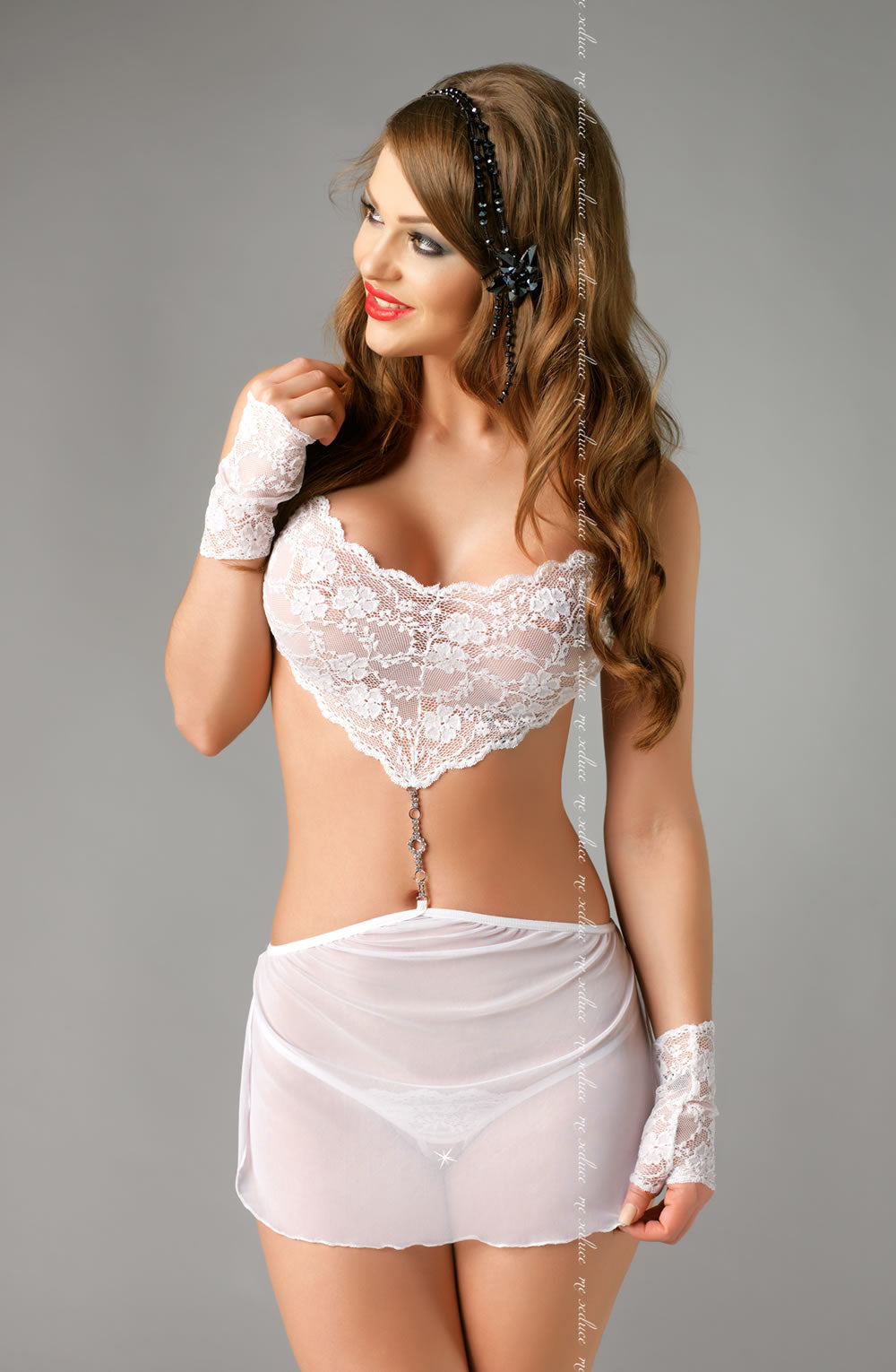 e Seduce e Seduce Elza Chemise White3  All Offers, Chemises, Honeymoon, Me Seduce, NEWLY-IMPORTED, SALE - So Luxe Lingerie