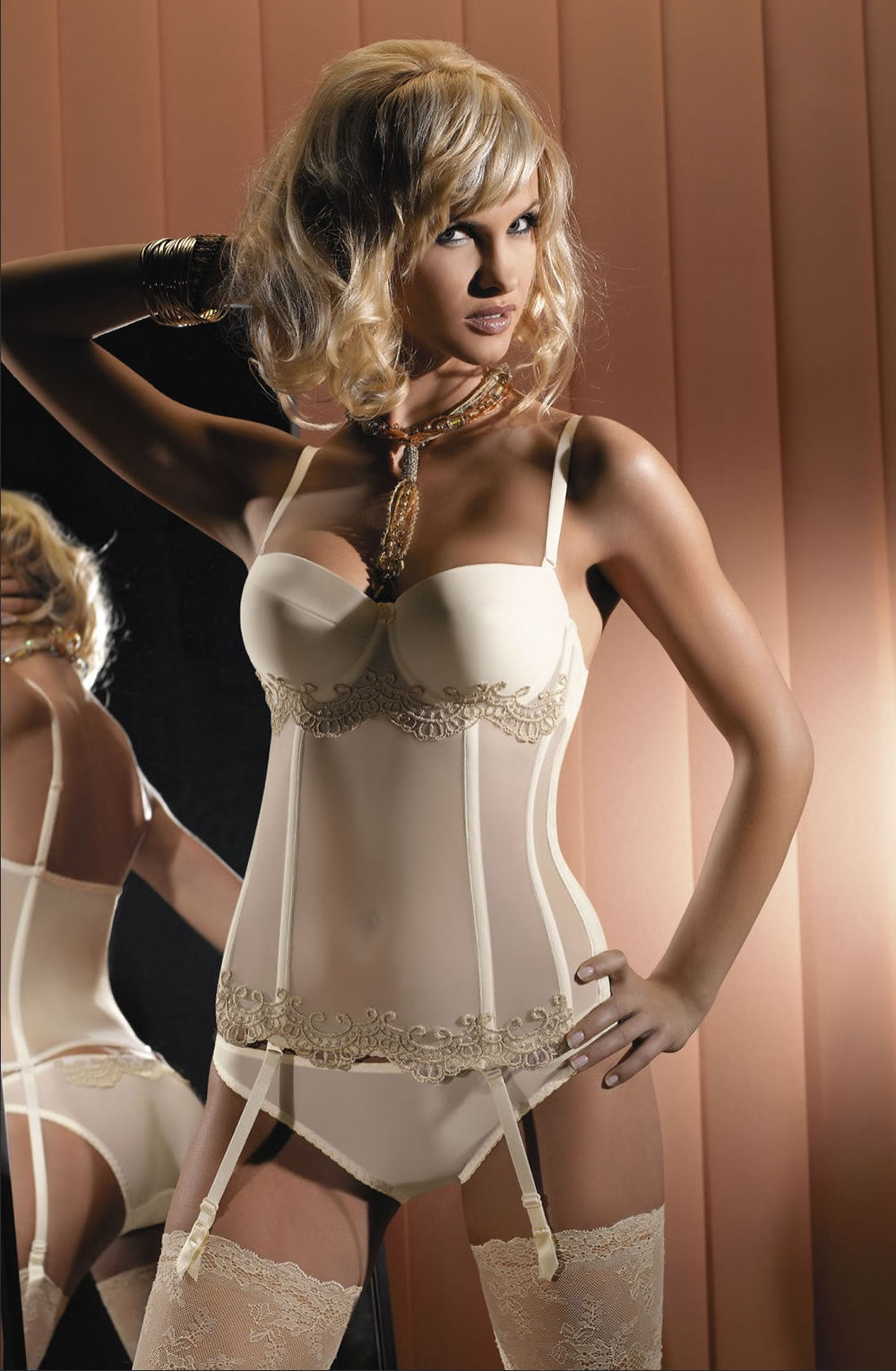 Gracya Wenecja Corset Crea  Corsets, Gracya, Honeymoon, Lingerie Sets, NEWLY-IMPORTED - So Luxe Lingerie