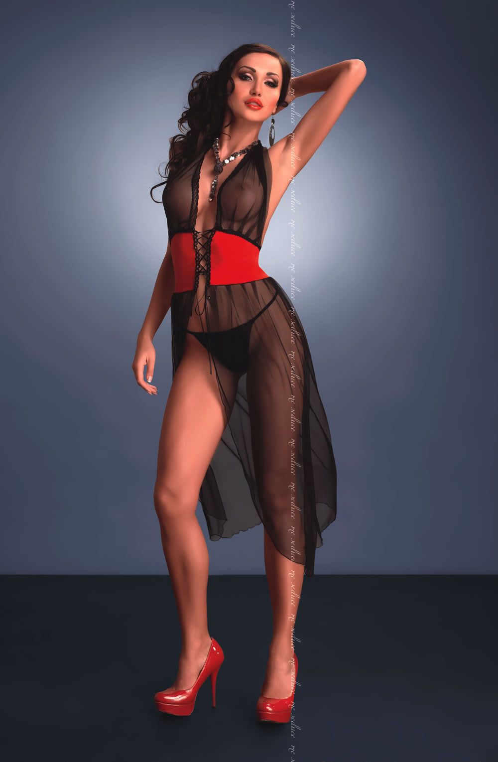 e Seduce e Seduce Estefania Black/Red3  All Offers, Chemises, Lingerie Sets, Me Seduce, NEWLY-IMPORTED - So Luxe Lingerie