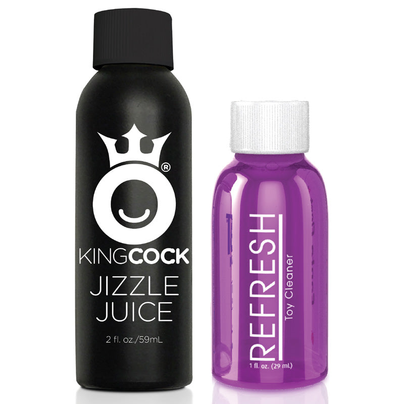 King Cock 9 Inch Squirting Dildo With Balls Flesh Sex Toys > Realistic Dildos and Vibes > Squirting Dildos 9 Inches, Both, NEWLY-IMPORTED, PVC, Squirting Dildos - So Luxe Lingerie