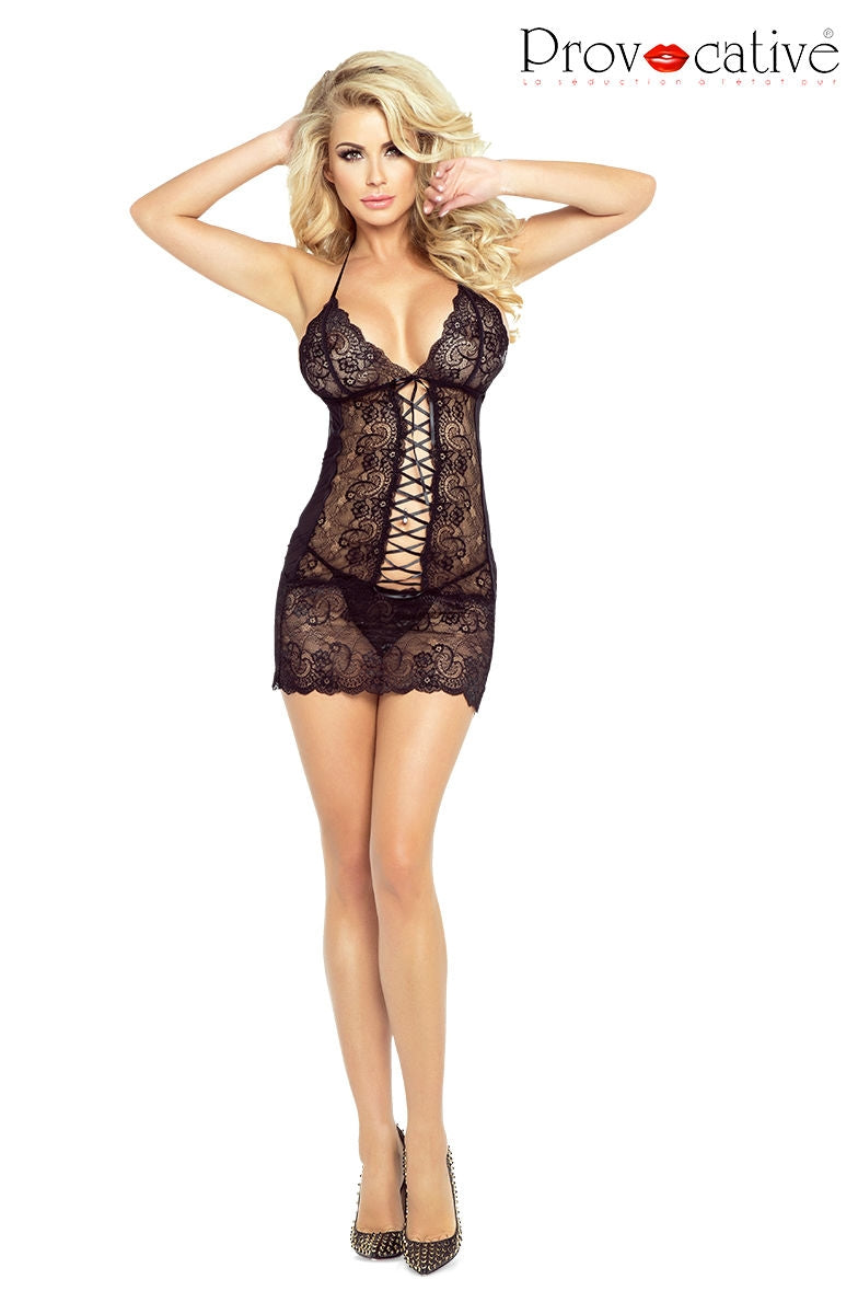 Provocative PR4862 Code Interdit Chemise  Bedroom Wear, Brands, Chemises, NEWLY-IMPORTED, Provocative - So Luxe Lingerie