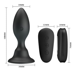 Mr Play Vibrating Anal Plug > Anal Range > Vibrating Buttplug 4.25, Both, NEWLY-IMPORTED, Silicone, Vibrating Buttplug - So Luxe Lingerie