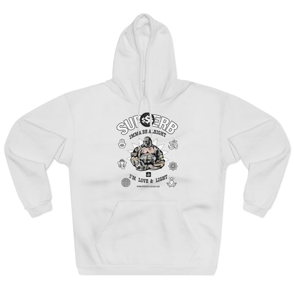 Supherb's Love & light Buddah Unisex Pullover Hoodie - SupherbBotanicals