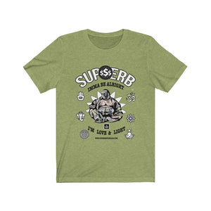 Supherb's Love & Light Buddah Jersey Short Sleeve Tee - SupherbBotanicals