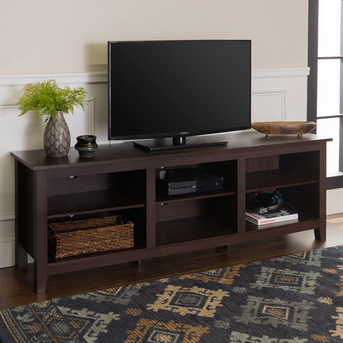 "Manor Park Wood TV Media Storage Stand for TVs up to 78"" - Espresso"