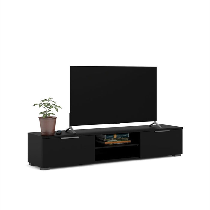 Tvilum Match 2 Drawer 2 Shelf TV Stand, Black Matte