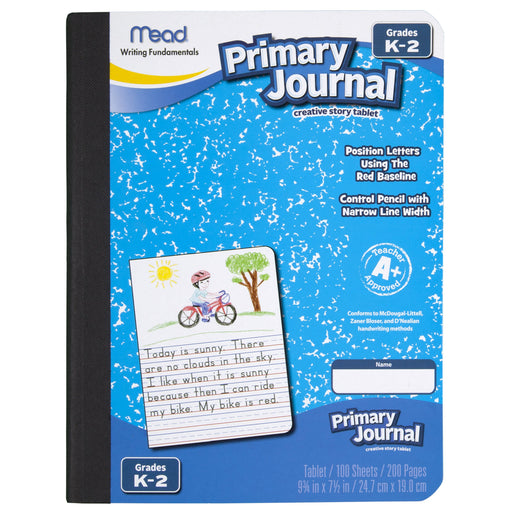 Mead Primary Journal, Half Page Ruled, Grades K-2, 100 Sheets (09535)