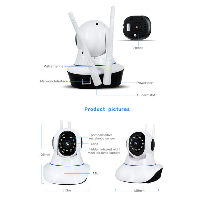 Wi-Fi Video Baby Monitor, Baby Monitoring System, Wi-Fi Camera Wireless 1080P Security Camera WiFi Home Surveillance Two-Way Audio & Night Vision