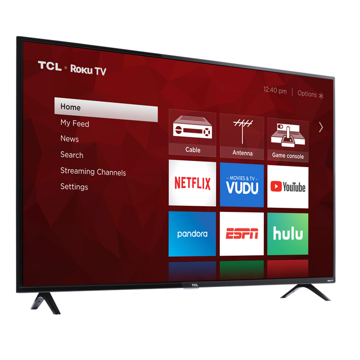 "TCL 55"" Class 4K UHD LED Roku Smart TV HDR 4 Series 55S421"