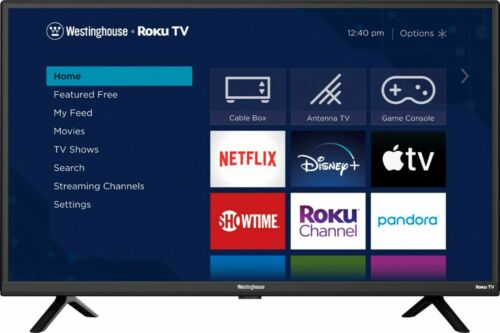 "Smart HDTV 720p 32"" Roku TV LED WIFI Dolby sound voice control Westinghouse  813784022140"