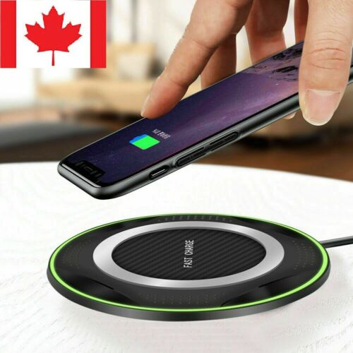 Fast Wireless Charger 10W Ultra strong Pad Mat for iPhone X XR Samsung Phone Ca