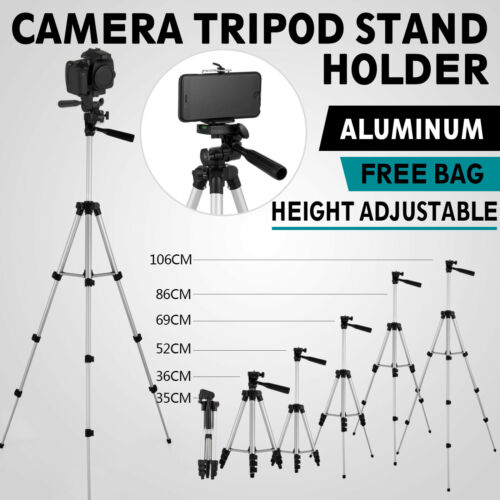 Professional Camera Tripod Stand Holder Mount for iPhone Samsung Cell Phone+Bag 800995740260