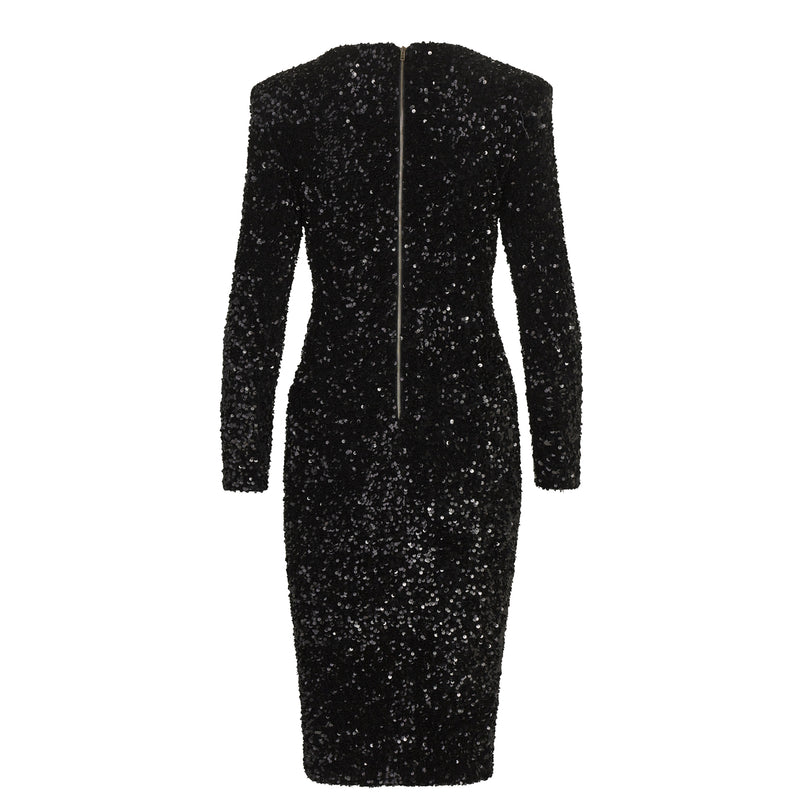 SEQUIN COCKTAIL MIDI DRESS