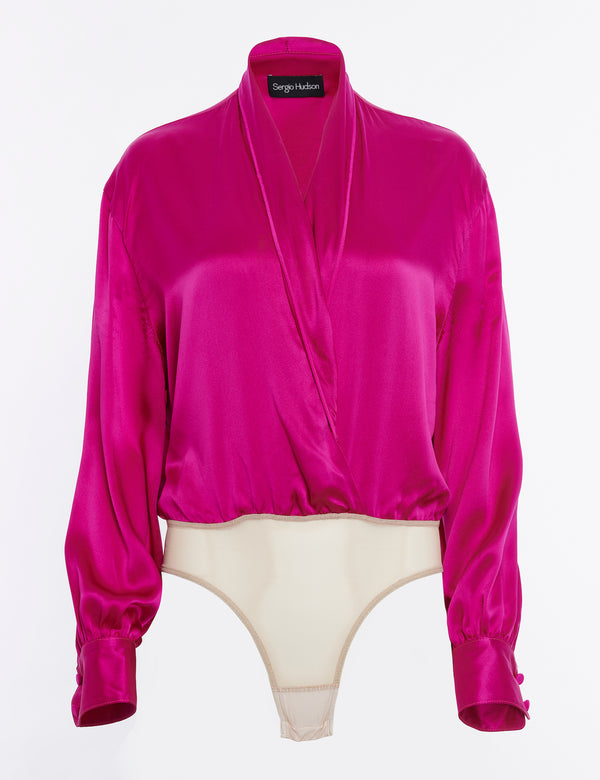 silk body blouse