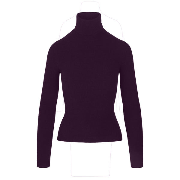 BURGUNDY ALPACA WOOL TURTLENECK SWEATER (PRE-ORDER)