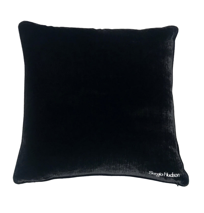 Sergio Hudson Logo Embroidered Pillow 24x24