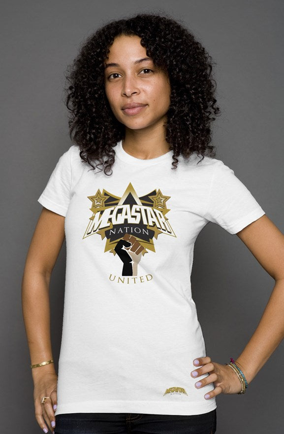 Megastar Nation United Shield - Womens Triblend T-shirt - MegaStartNation