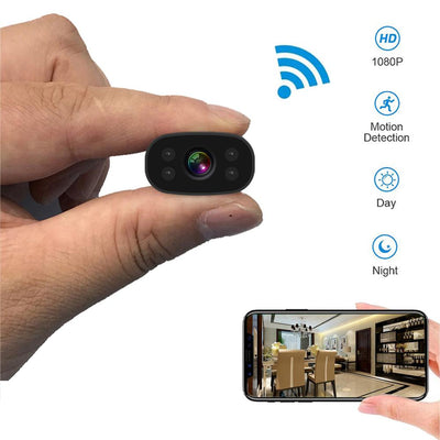 Mini Hidden Home Studio Camera with 1080P HD Video Recording and Wireless WiFi Remote - MegaStartNation