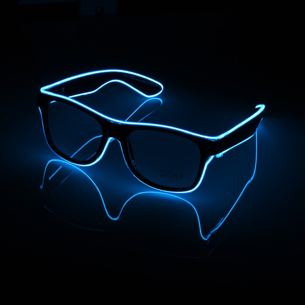 Electro-light Wired Flashing / Glowing Glasses Great for Podcasts, Concerts, Festivals, Videos and Parties - MegaStartNation