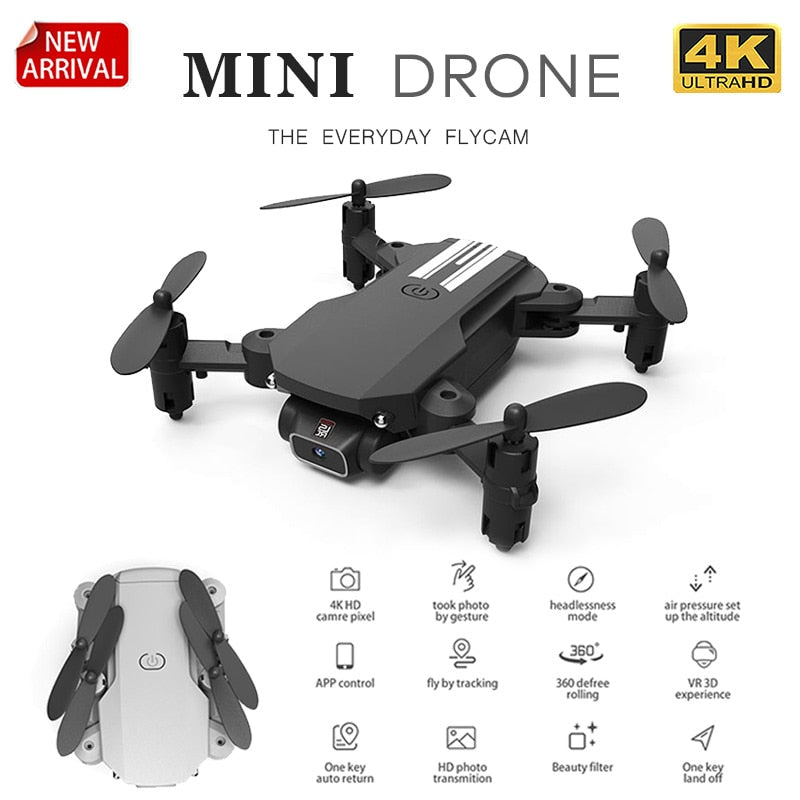 *Club Special* New Mini Drone 4K or 1080P HD Video Recording Black or Gray Foldable Quadcopter with Remote Control - MegaStartNation