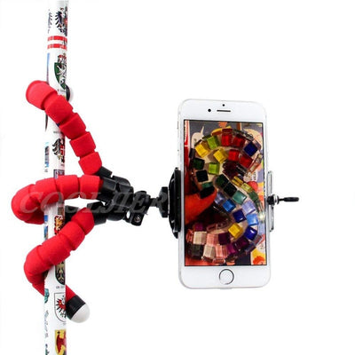 Flexible Sponge Octopus Mini Tripod With Bluetooth Remote Shutter For iPhone mini Camera Tripod Phone Holder clip stand - MegaStartNation