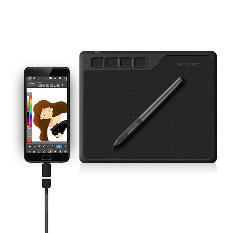GAOMON S620 6.5 x 4 Inches 8192 Graphic Design Pen and Digital Creative Tablet (battery-free) - MegaStartNation